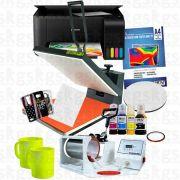 Prensa Plana 40*50 + Prensa de caneca tradicional + Impressora L3110