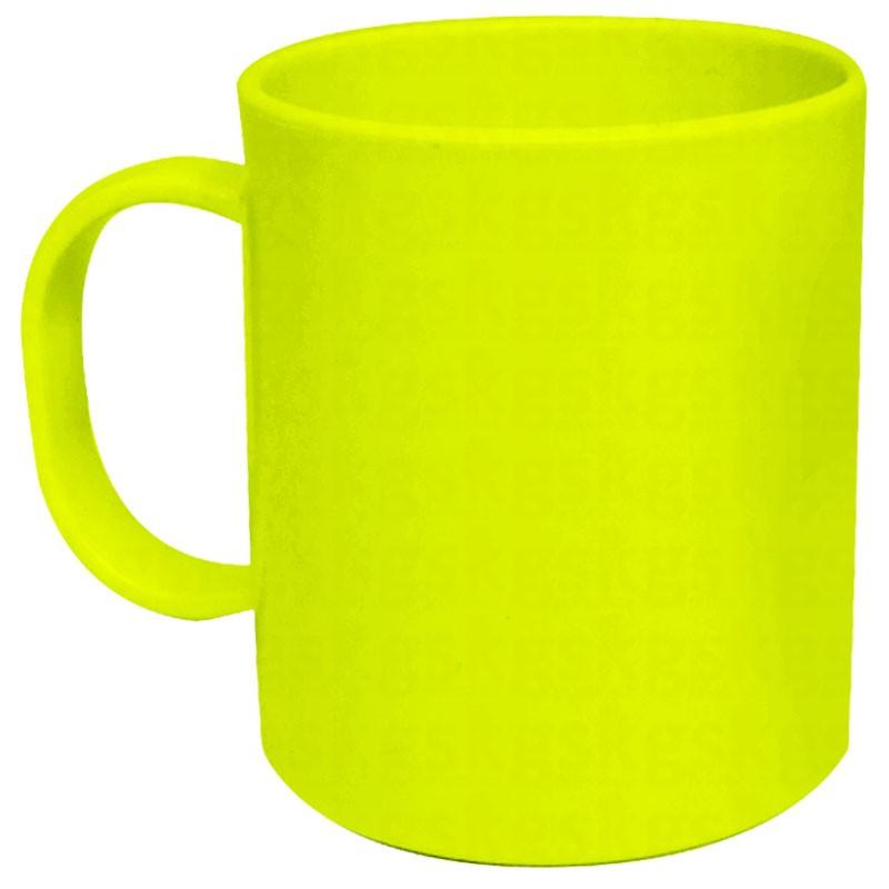 Caneca de polímero verde-limão