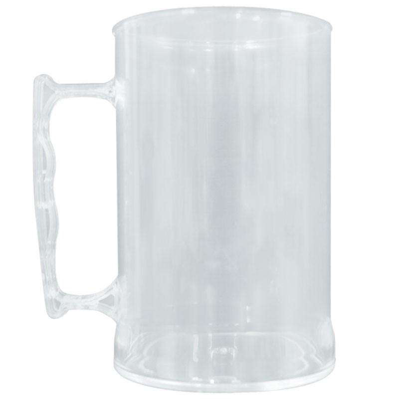 Caneca de acrílico transparente