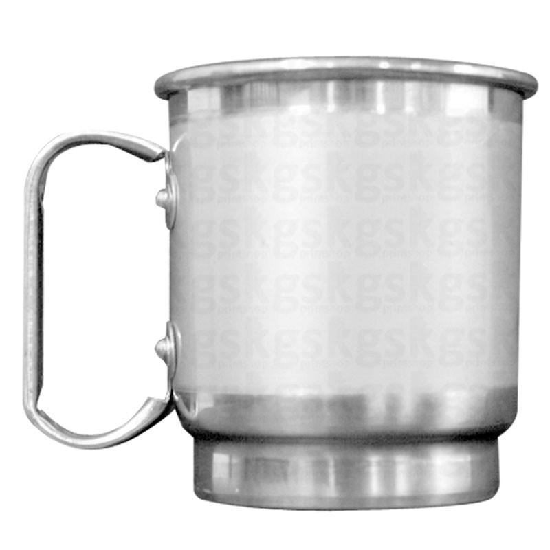 Caneca alumínio com tarja- 500ml