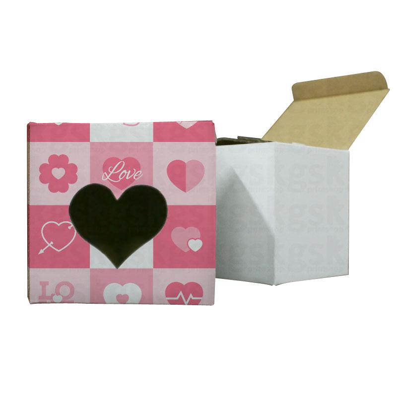 Caixa sublimática coração - pacote com 10 unidades