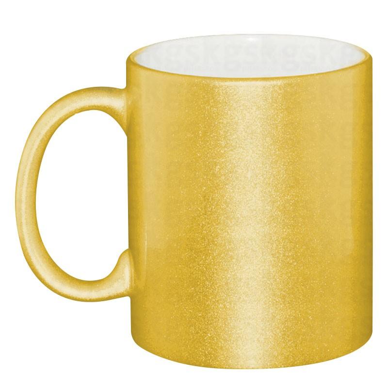 Caneca perolizada dourada