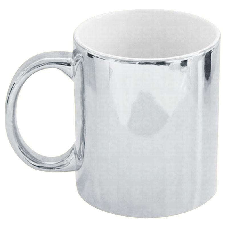 Caneca metálica prata (l1)