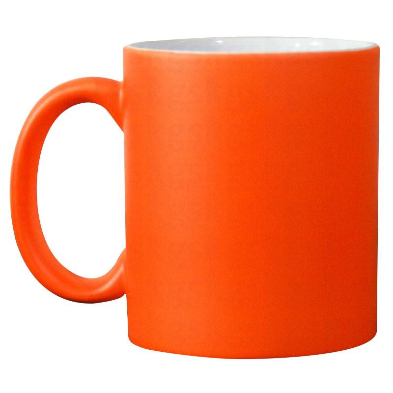 Caneca neon - laranja