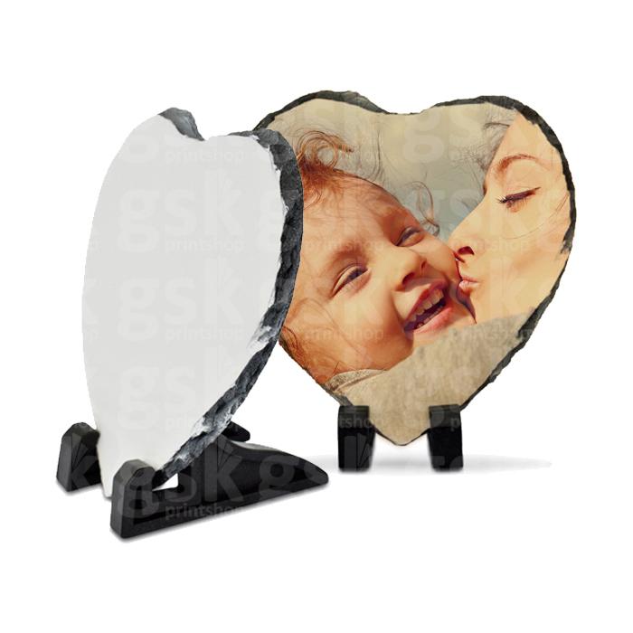 Pedra ardósia - coração 15x15cm