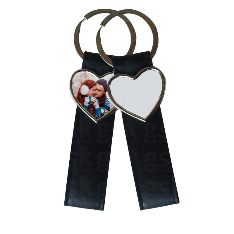 Chaveiro de couro sintético 2 - coração