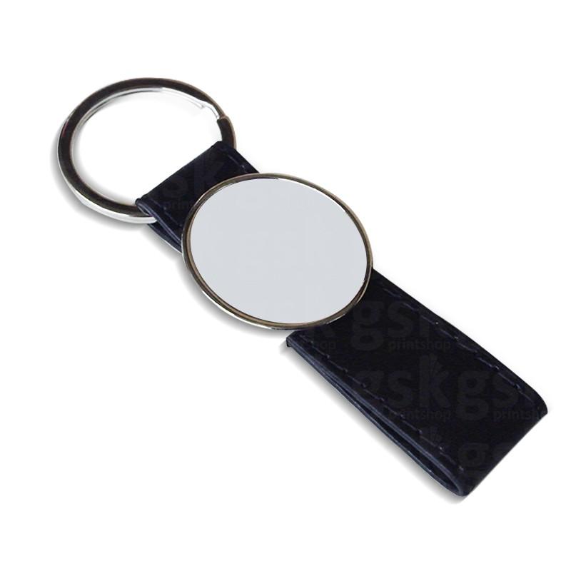 Chaveiro de couro sintético 2 - oval
