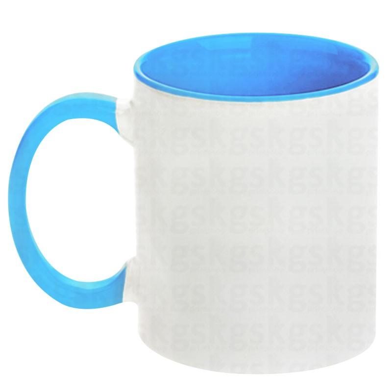Caneca com interior colorido - azul claro