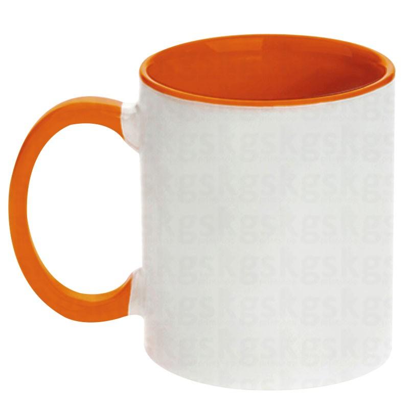 Caneca com interior colorido - laranja