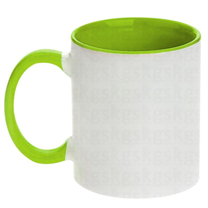 Caneca com interior colorido - verde claro