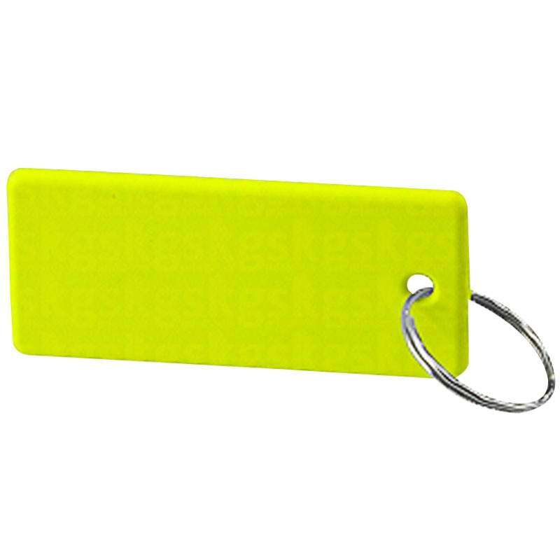 Chaveiro de polímero 10 unidades - Retangular verde-limão