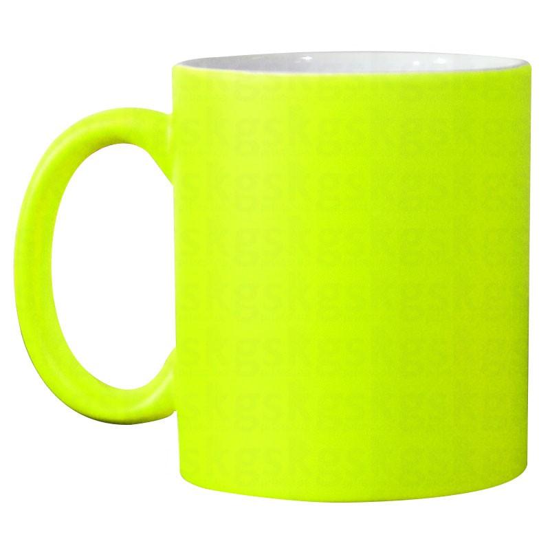 Caneca neon - verde-limão