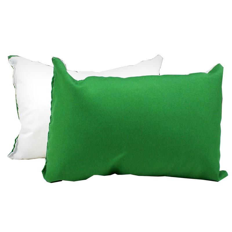Almofada 20x30 com enchimento - verde