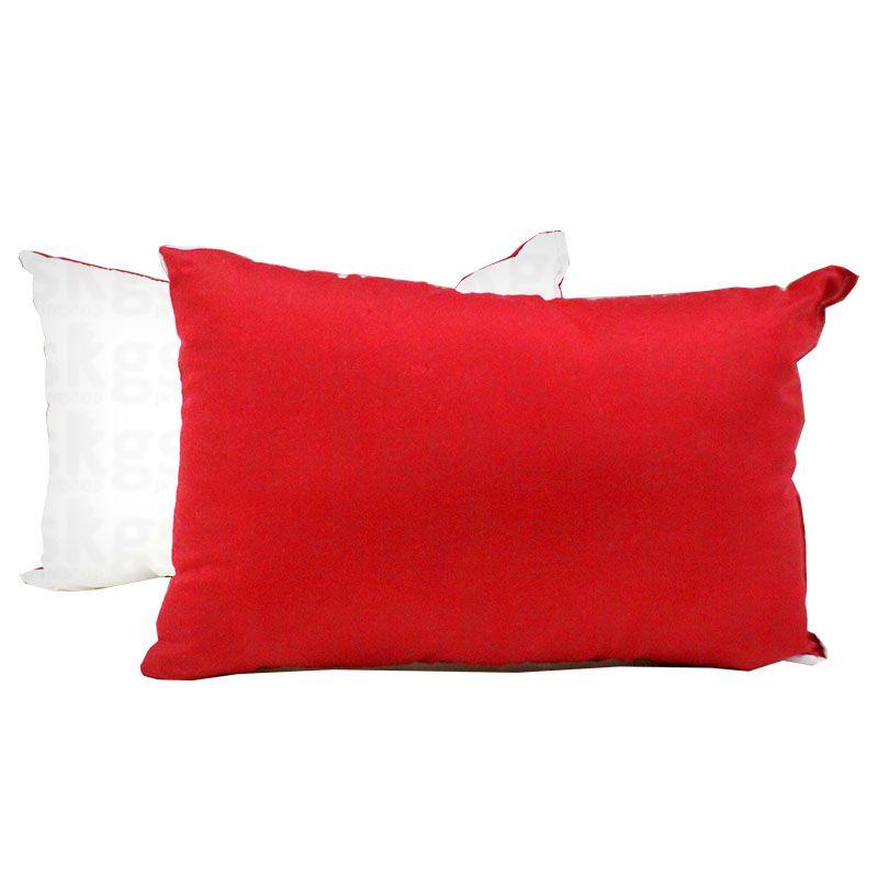 Almofada 20x30 com enchimento - vermelha