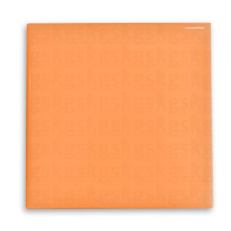 Azulejo neon - laranja 15x15cm