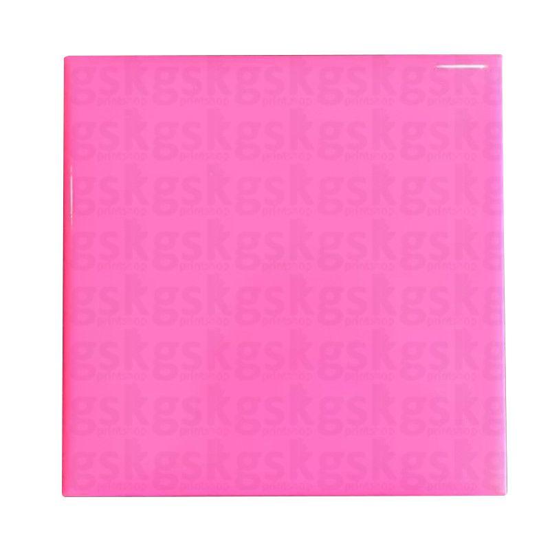 Azulejo neon - rosa 15x15cm