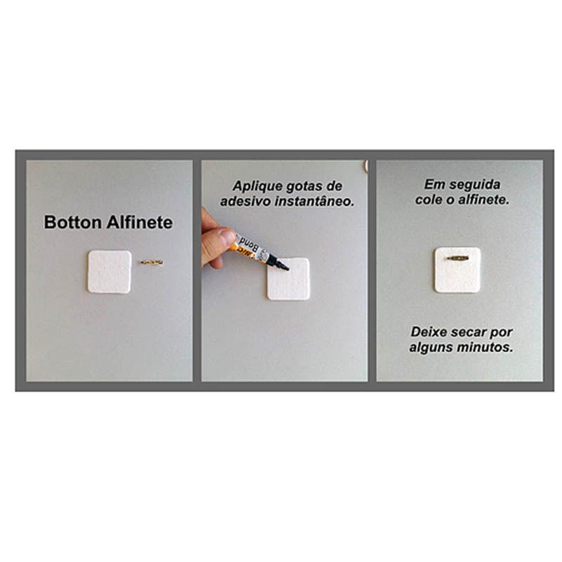 Botton Alfinete 15 unidades - quadrado