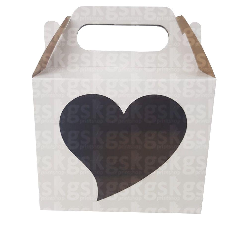 Caixa coração - pacote com 10 unidades