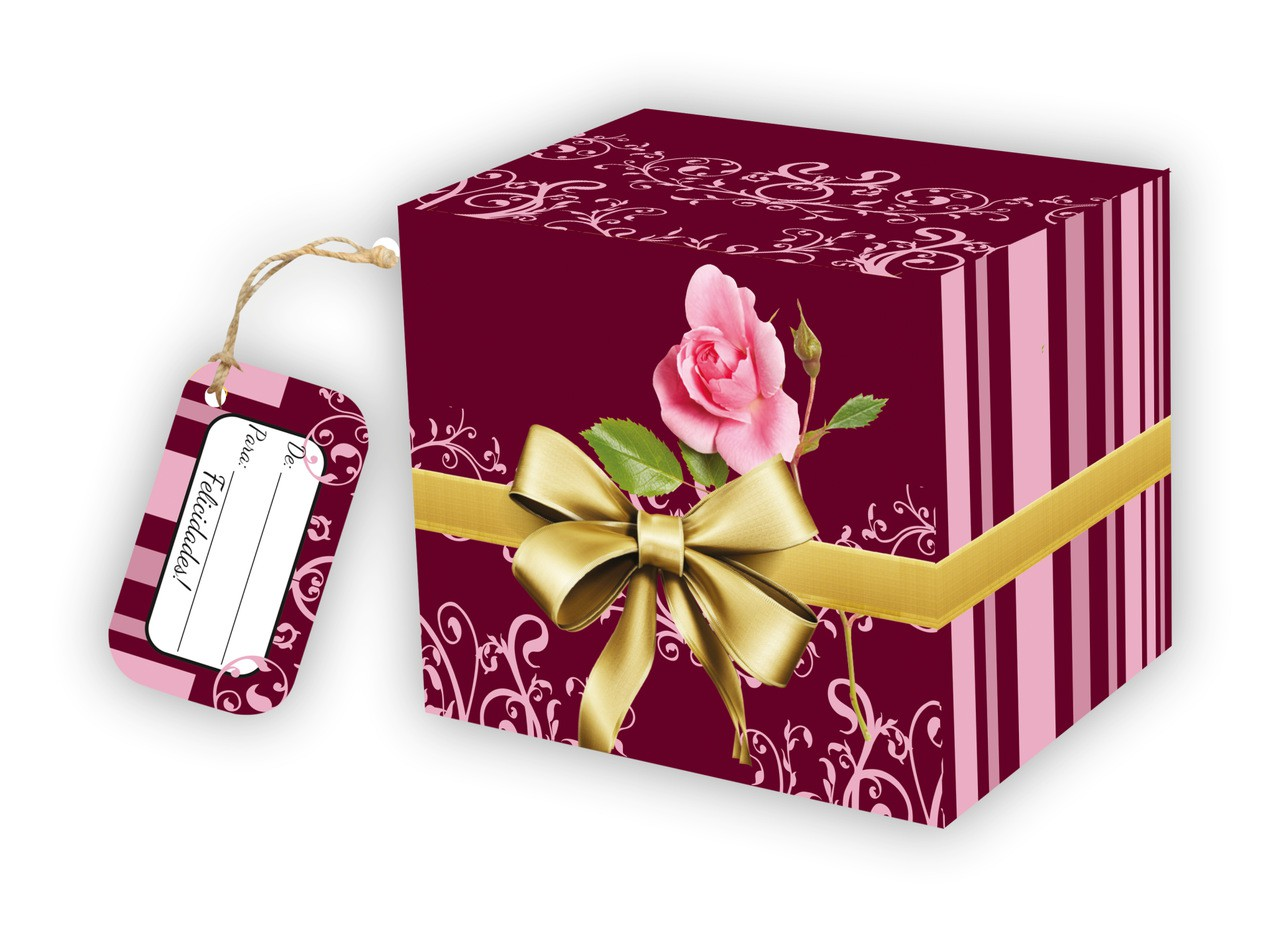 Caixa para Caneca Arabesco com tag - pacote com 10 unidades