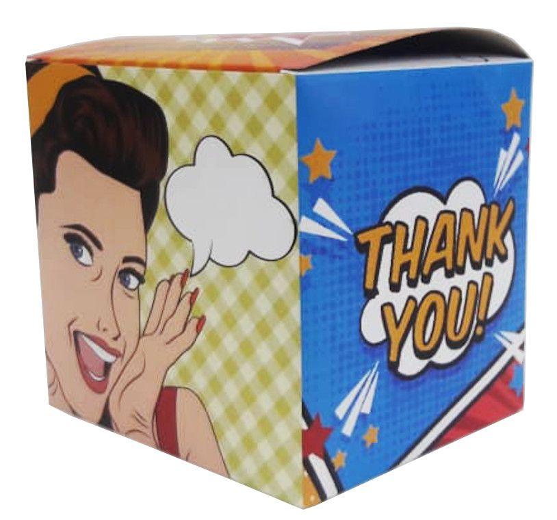 Caixa para caneca cartoon - pacote com 10 unidades