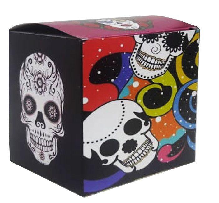 Caixa para caneca caveira mexicana - pacote com 10 unidades