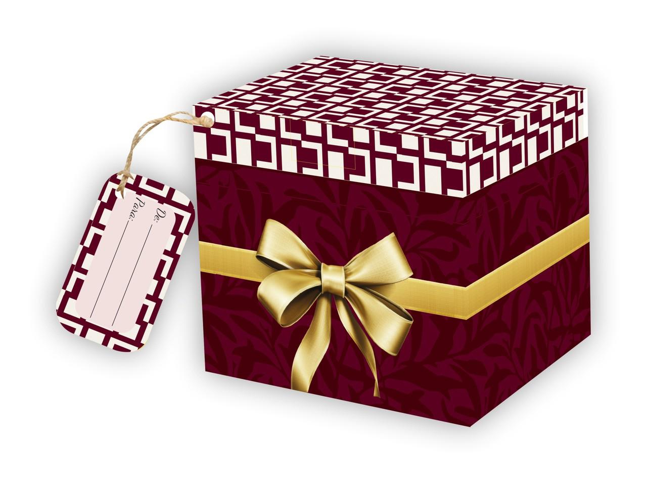 Caixa para Caneca Xadrez Bordo com tag - pacote com 10 unidades
