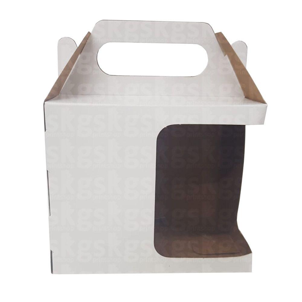 Caixinha com recorte e alça - pacote com 10 unidades
