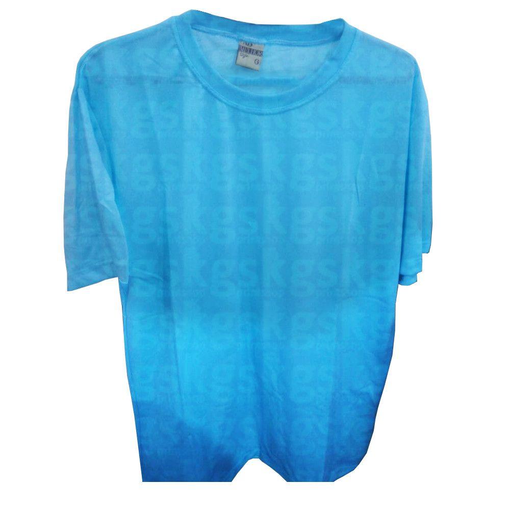 Camiseta poliéster Azul Claro - adulto
