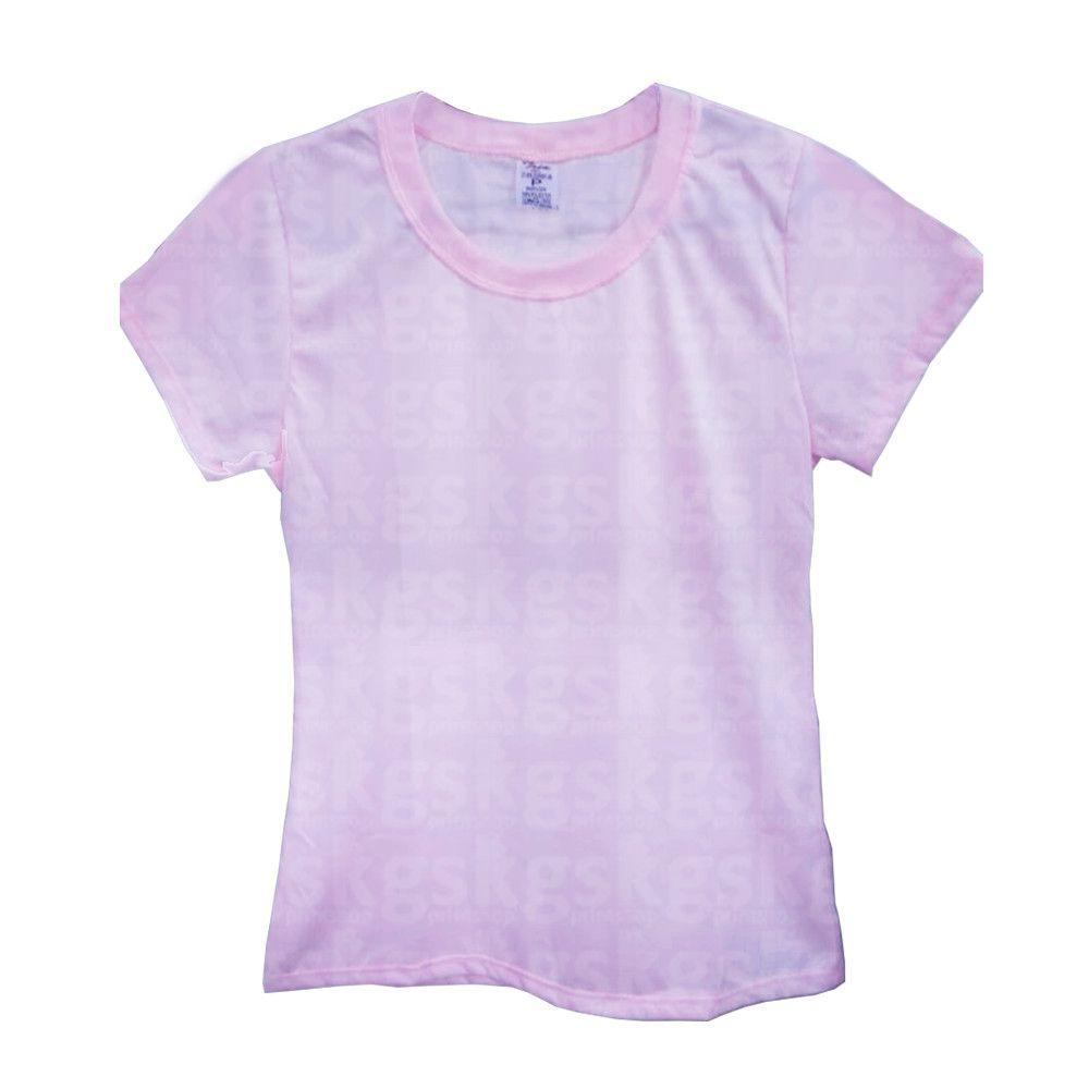 Camiseta poliéster Rosa - adulto