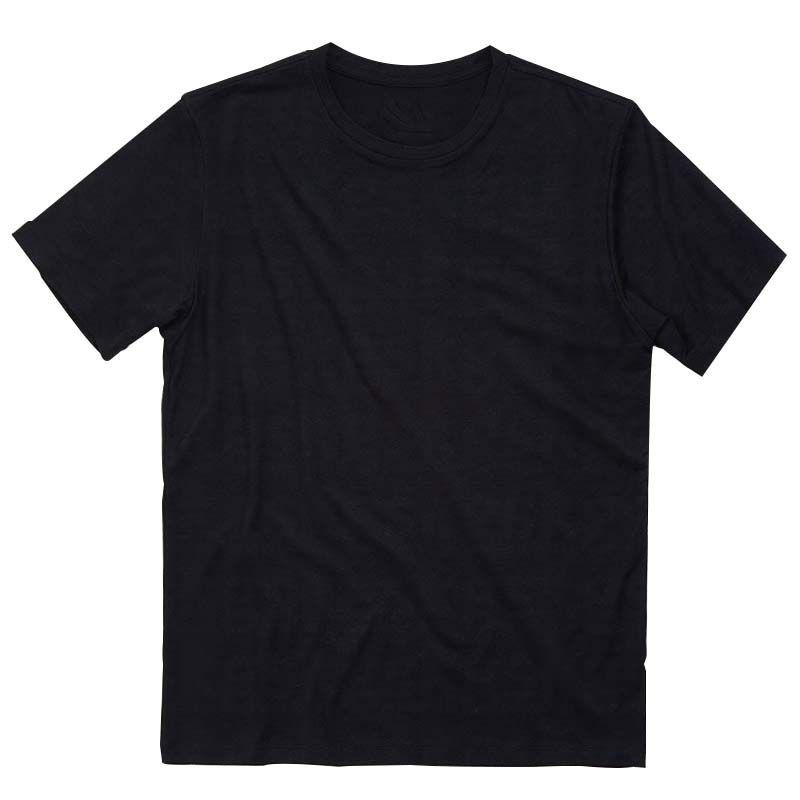 Camiseta preta algodão - adulto