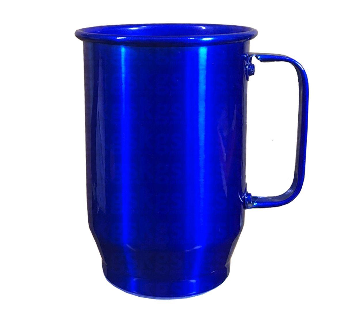 Caneca Alumínio 600ml - Azul