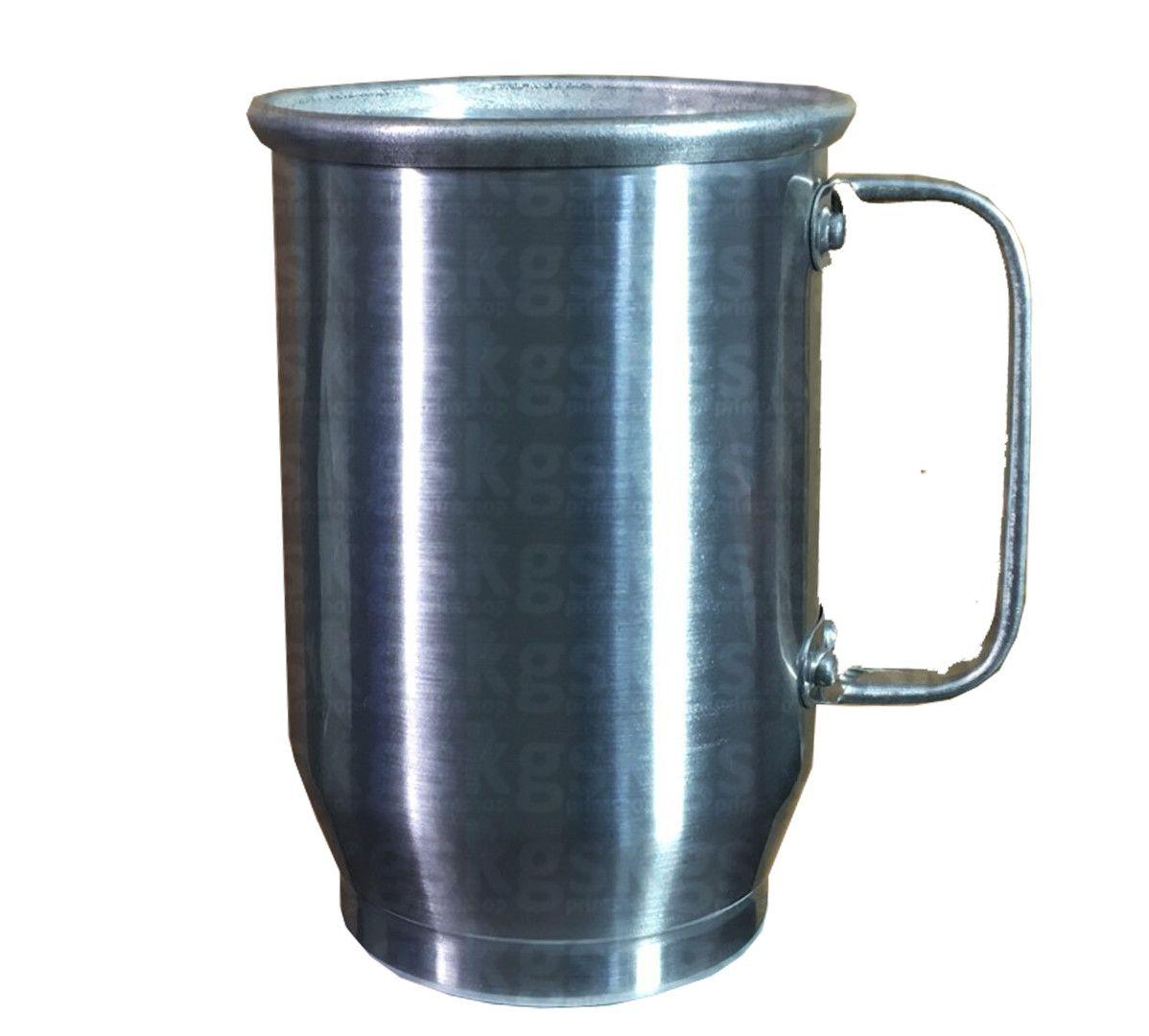 Caneca Alumínio 600ml - Prata