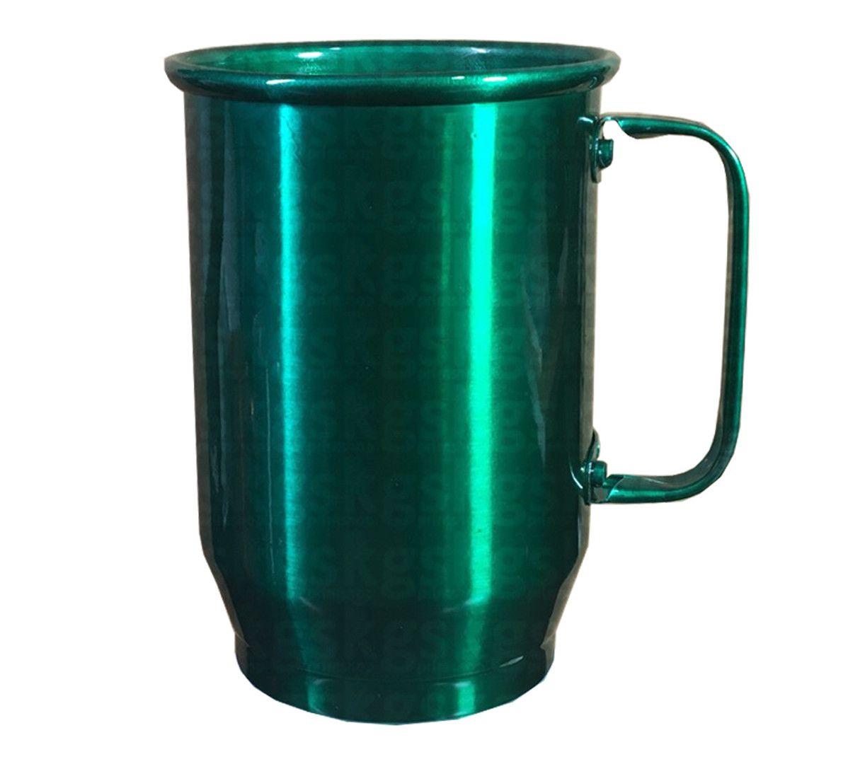Caneca Alumínio 600ml - Verde Escuro