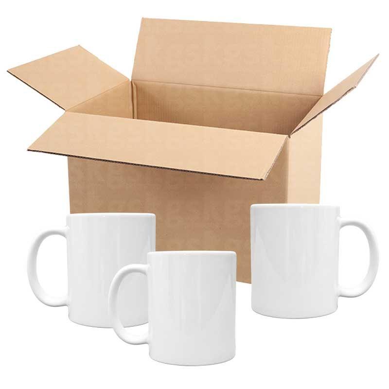 Caneca branca AAA - caixa com 36 unidades