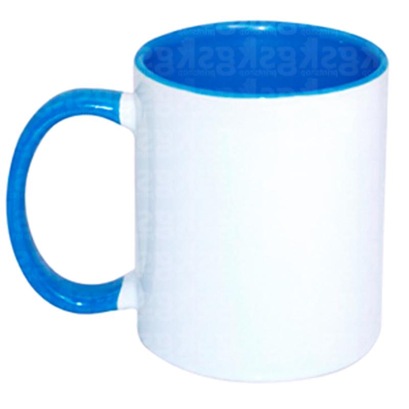 Caneca com interior colorido - azul médio