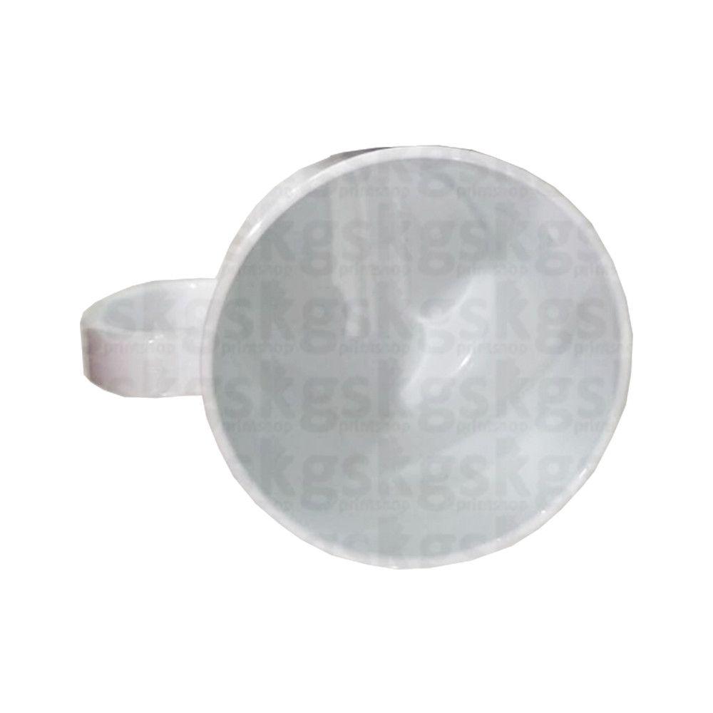 Caneca de polímero branca - Nacional