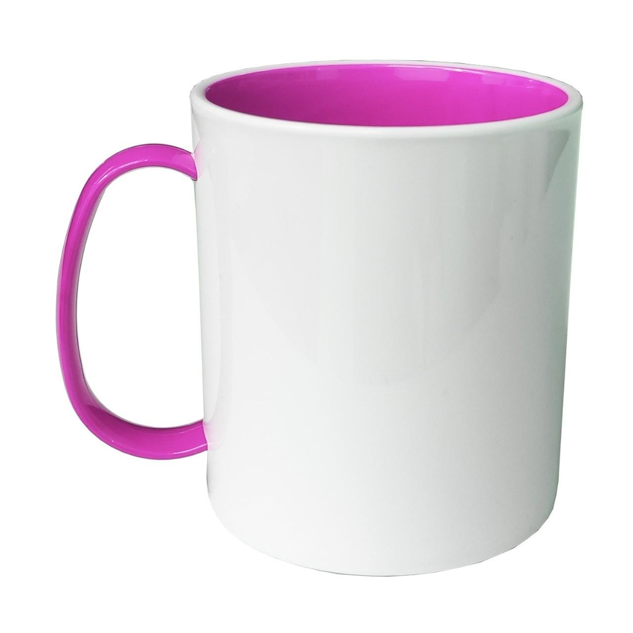 Caneca de Polímero Interior e Alça Rosa Pink