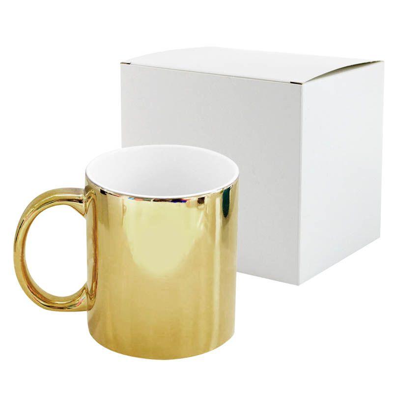 Caneca metálica dourada (I2)