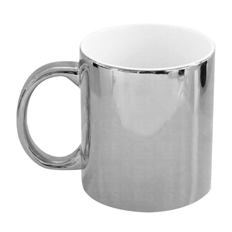 Caneca metálica prata (I2)