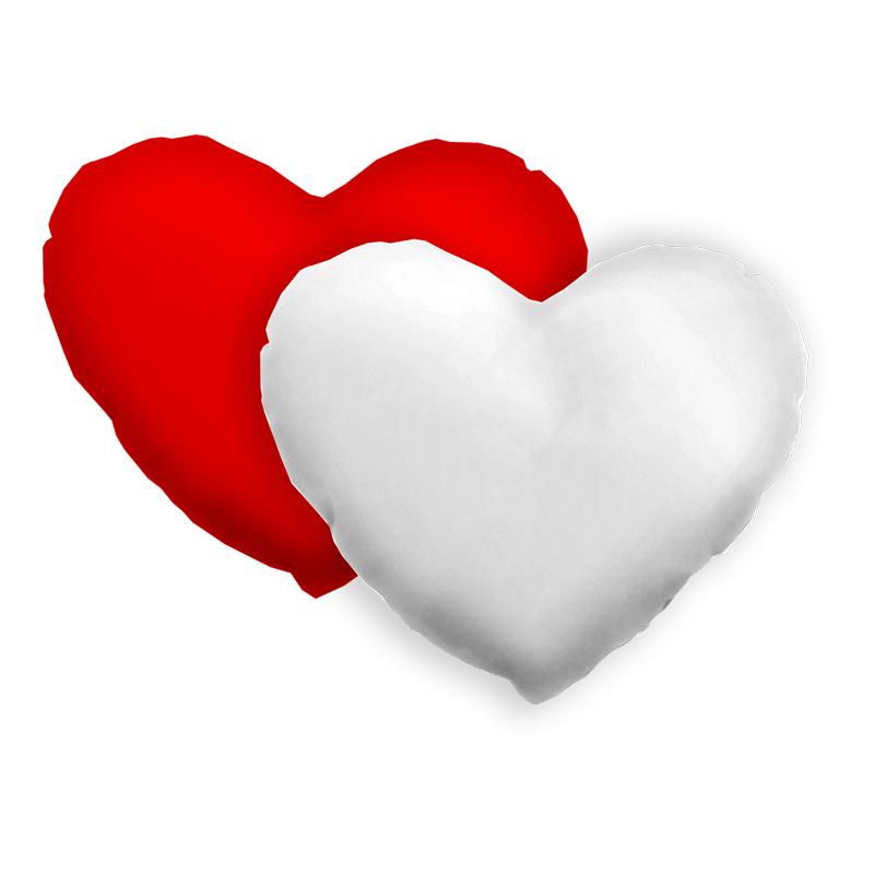 Capa Almofada Coração + Enchimento