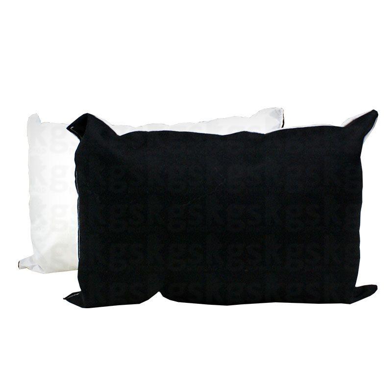 Almofada 20x30 com enchimento - preto