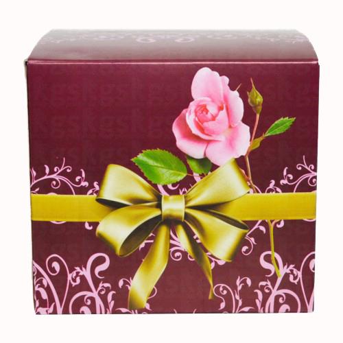 Caixa para caneca estampa de flores - pacote com 10 unidades