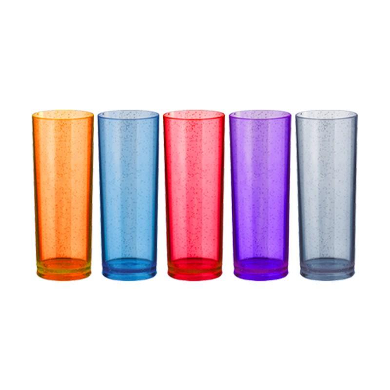 Copo Long Drink com Glitter