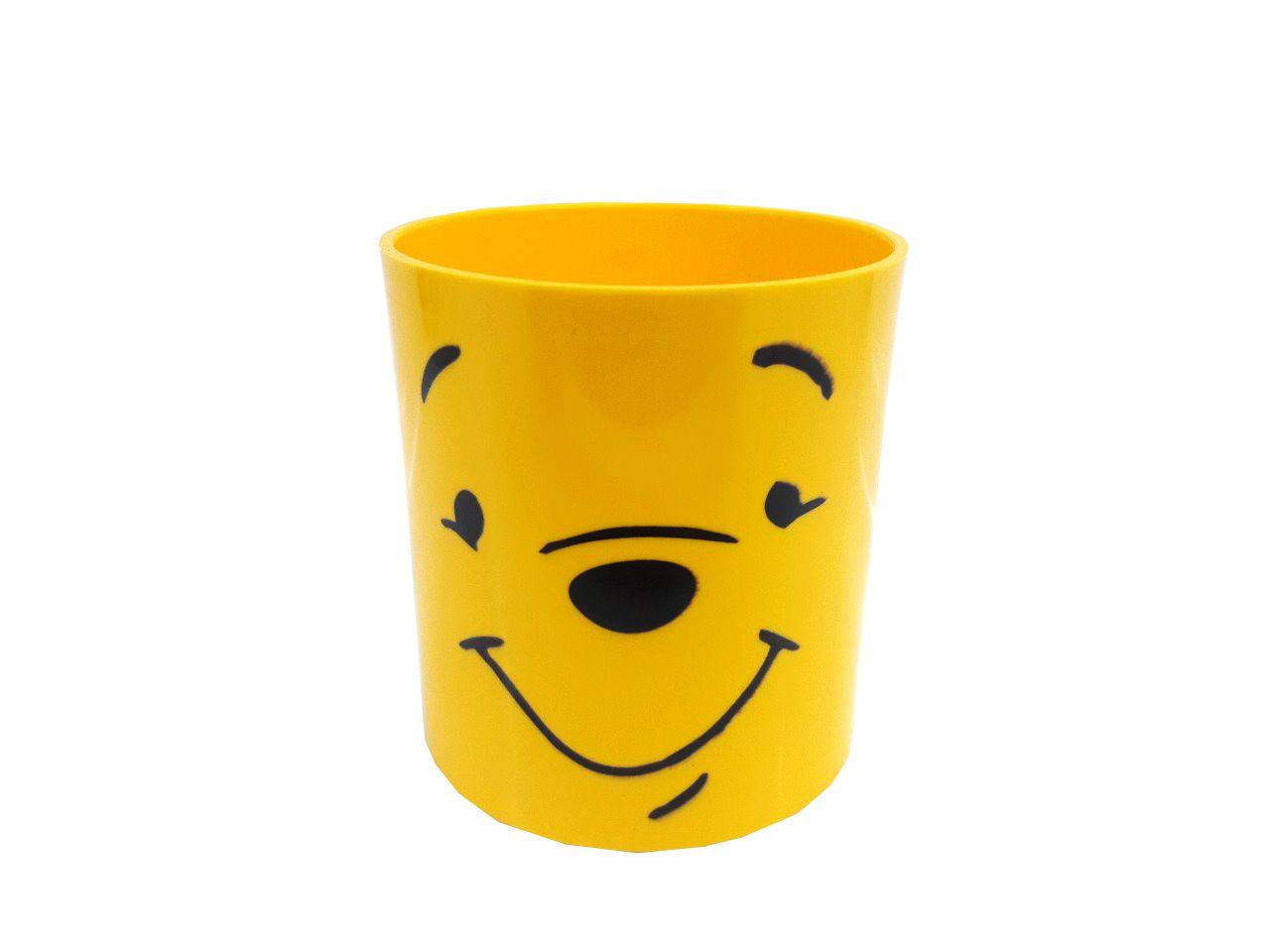 Copo Plástico Colorido - amarelo