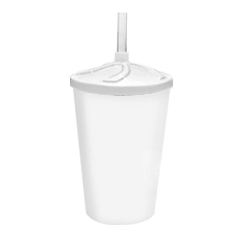 Copo twister branco sólido - acrílico