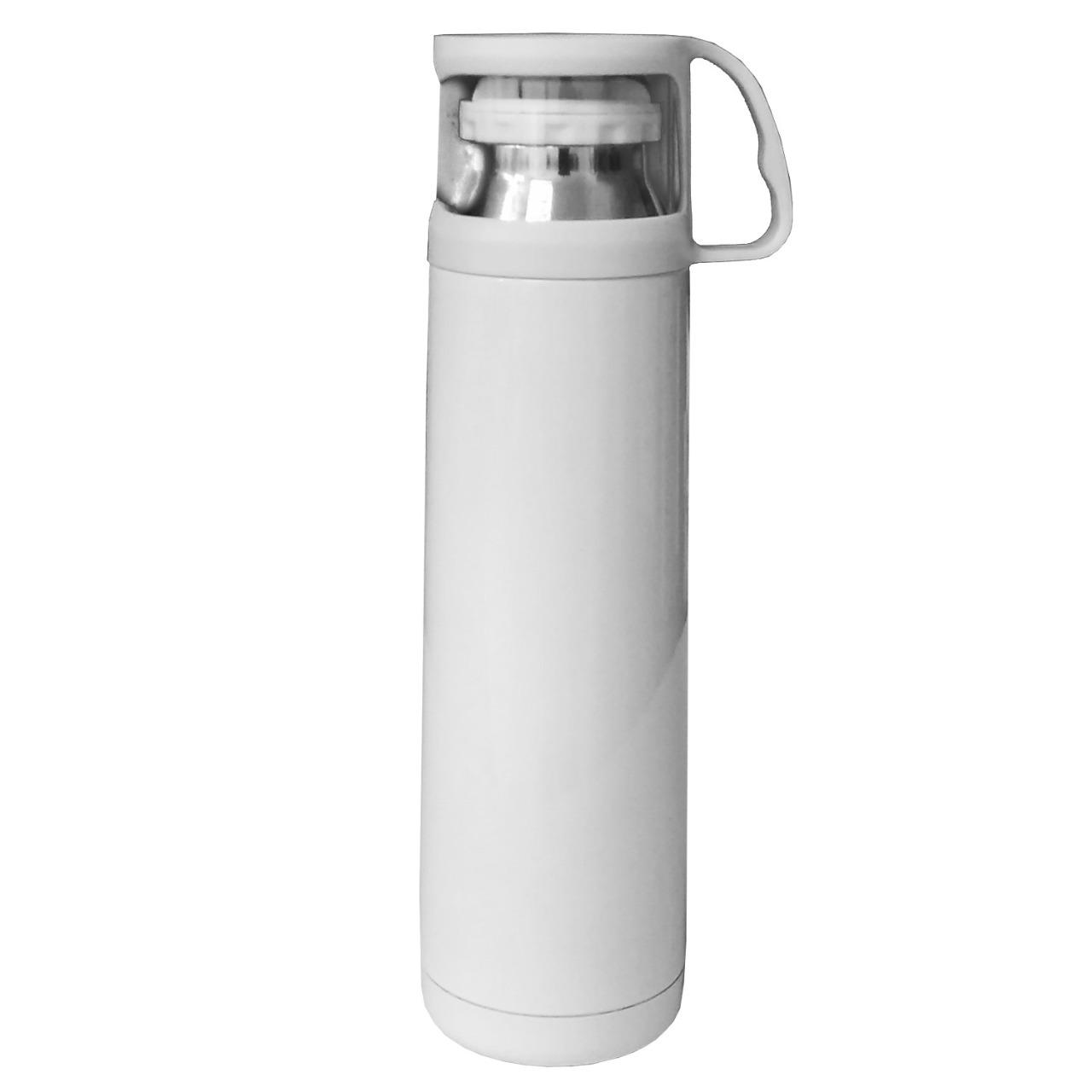 Garrafa Térmica Cônica Branca- 500ml