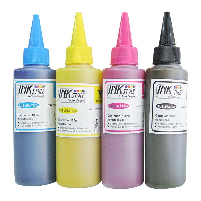 KIT- Tinta Sublimática 100ml (CYMK) + Brinde