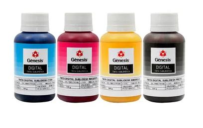 Kit - Tinta Sublimática Gênesis 4 Cores (100ML) - (400ML)