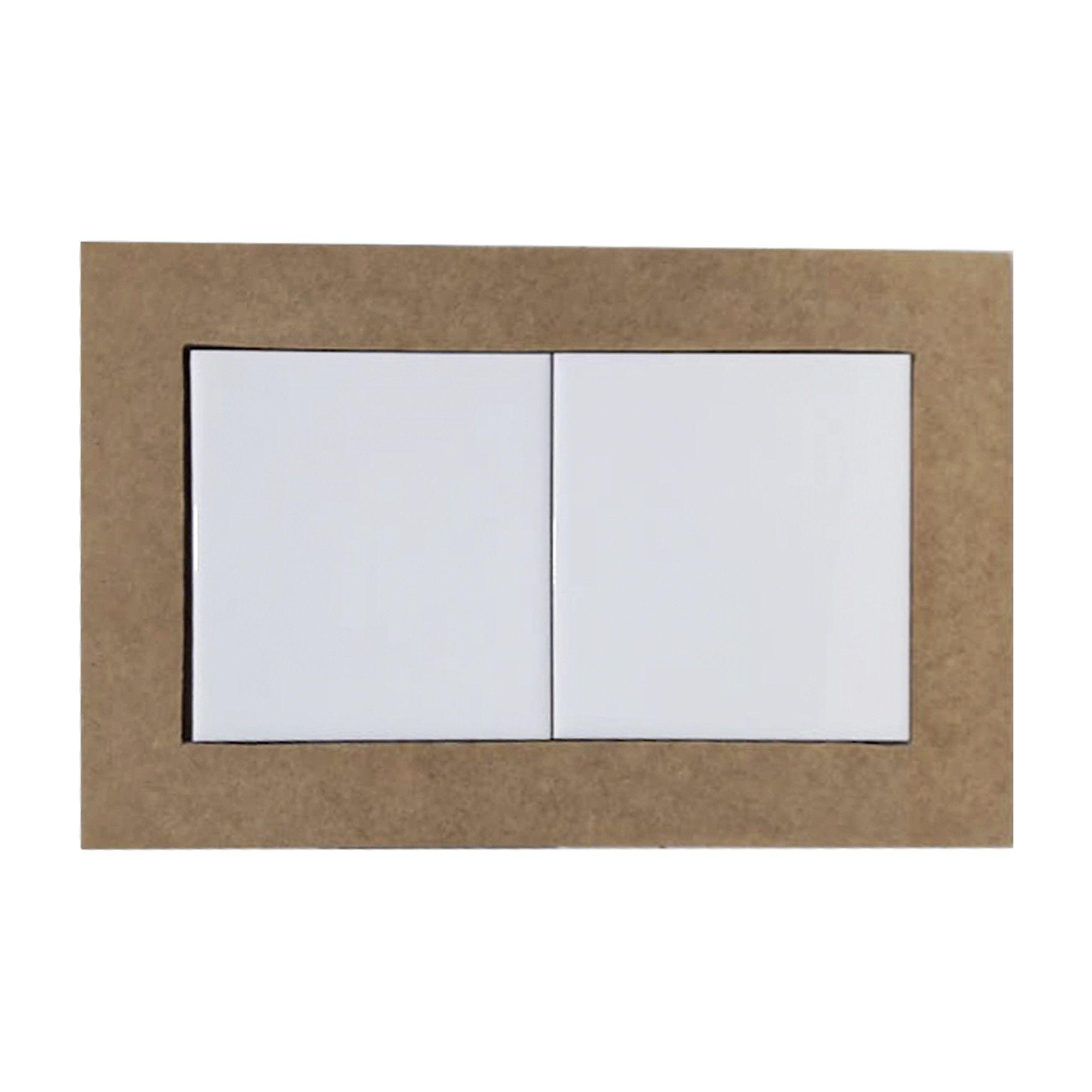 Moldura com 2 azulejos - 10*10cm