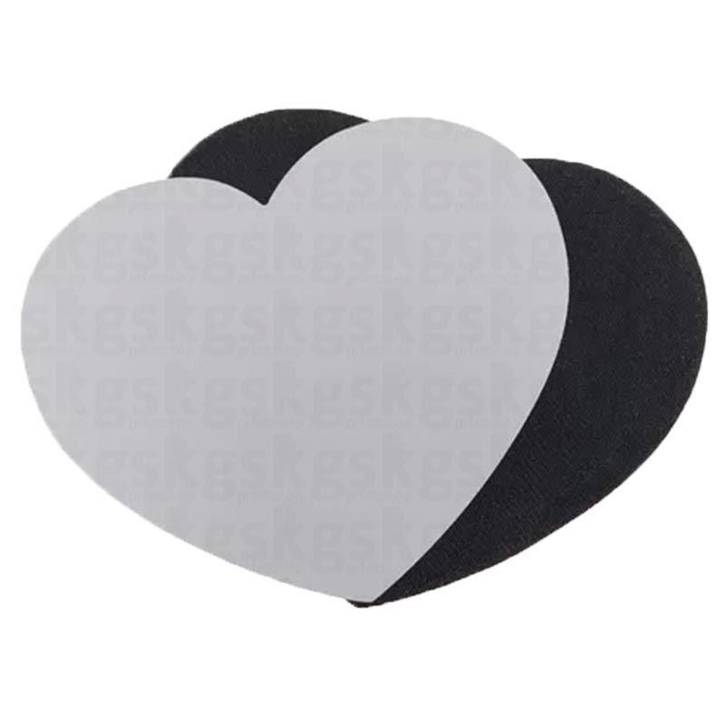 Mouse pad E.V.A coração para sublimação - 5 unidades